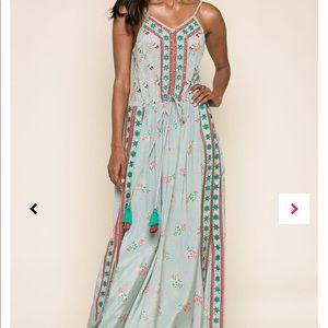 NWT Raga Lodi Gardens Split Maxi Dress